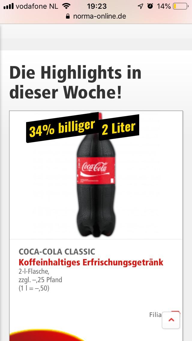 [Grensdeal] Coca Cola in Duitsland - 2L voor €1,-