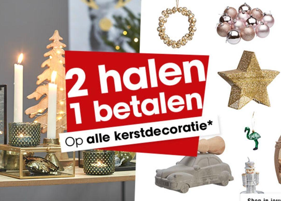 Alle Kerstdecoratie: 1+1 gratis @Kwantum