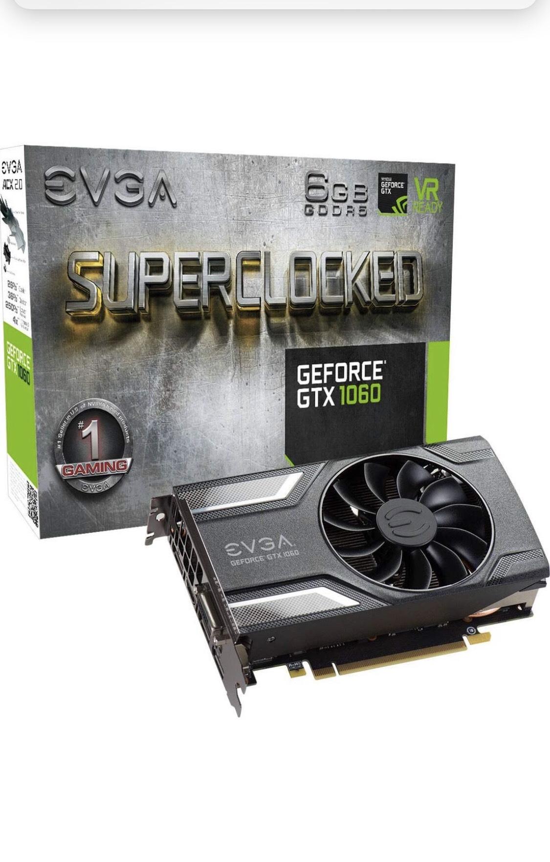 [Grafische Kaart] EVGA GeForce® GTX 1060 6GB SC Gaming