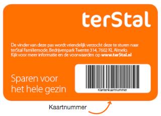 100 punten cadeau (4€) bij aanmelding voor @TerStal klantenkaart