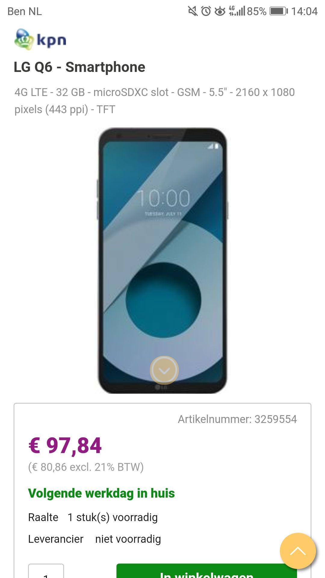 LG Q6 98 euro