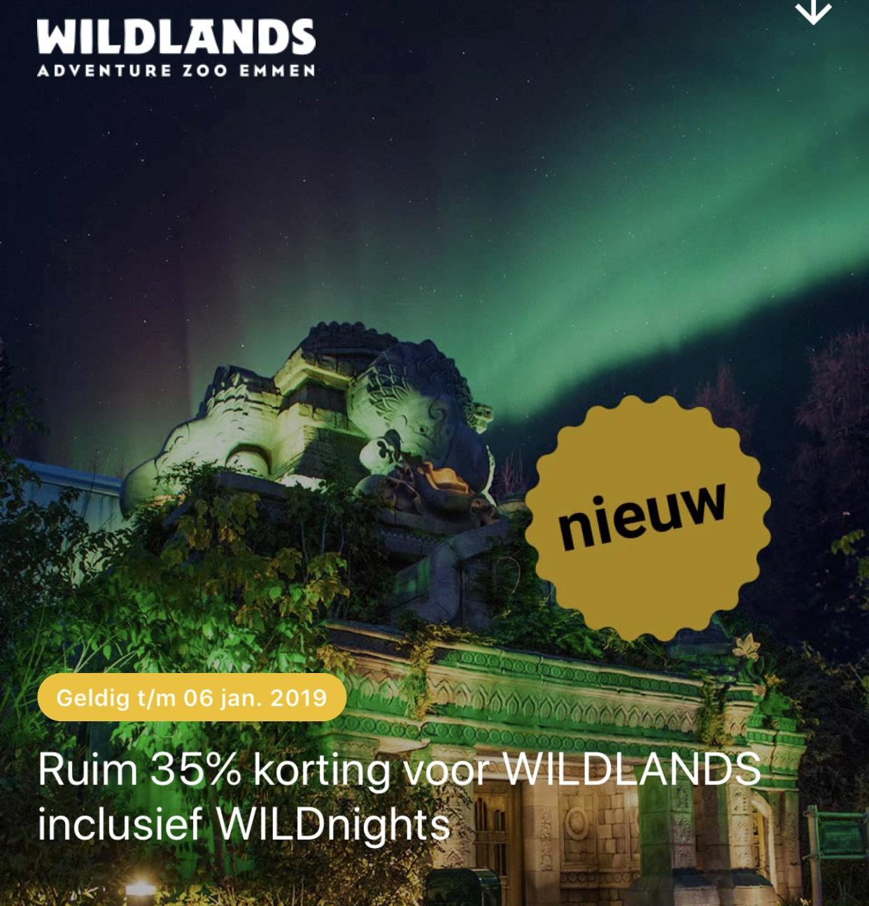 35% korting op Wildlands