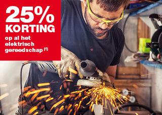 Praxis: 25% korting op elektrisch gereedschap