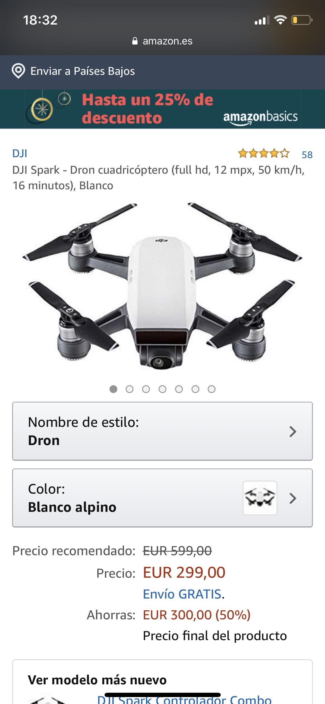 [Drone] DJI SPARK - 12 mpx, 50 km/h, full HD