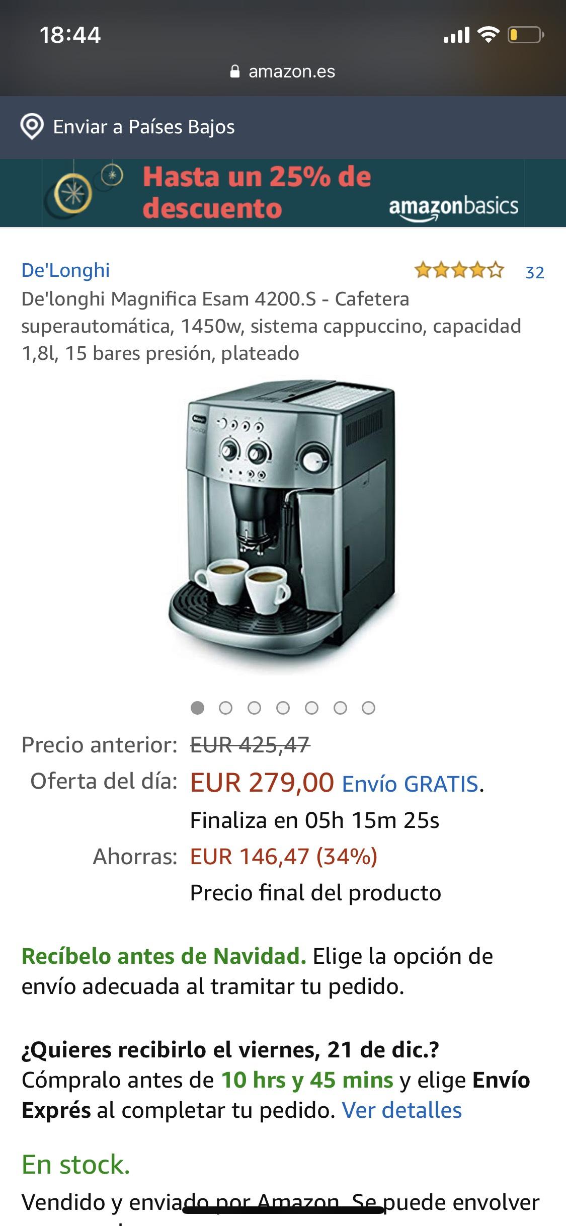 [Espressomaschine] DE'LONGHI ESAM 4200.S AUTOMATISCH