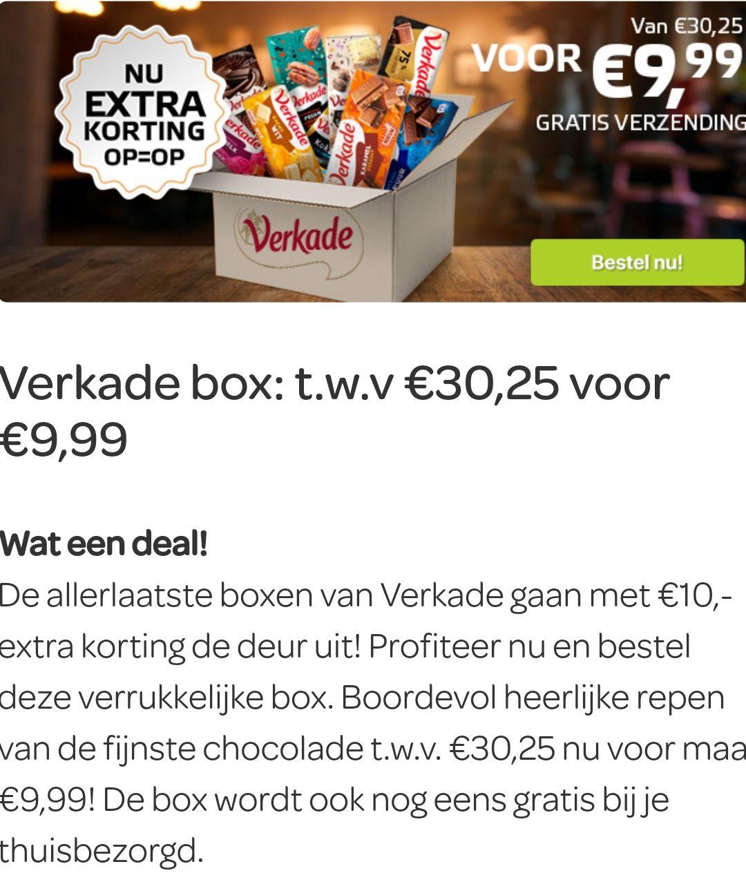 Scoupy chocolade Verkade box