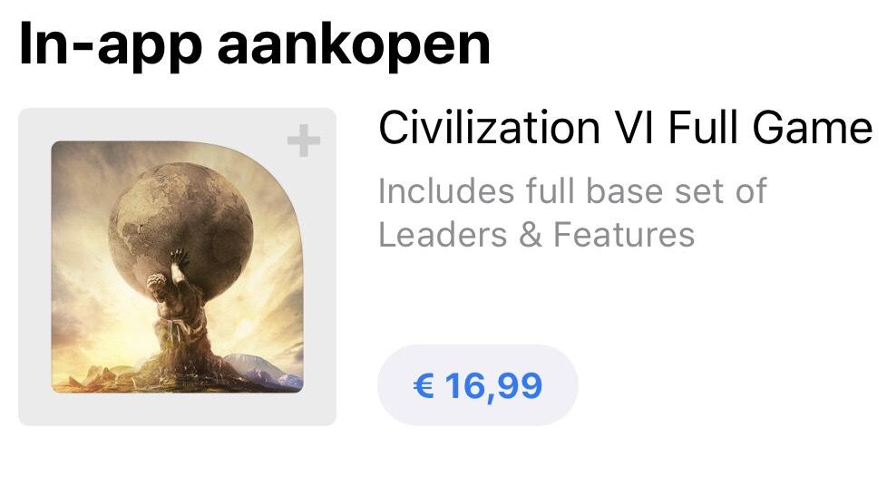 [IOS] Civilization VI voor €16,99