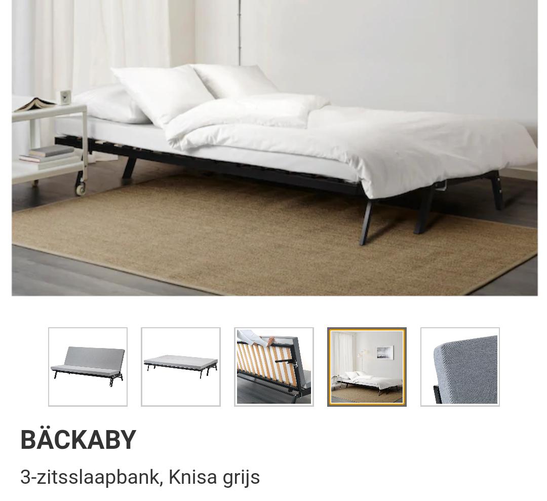 Bäckaby 3-zitsslaapbank (met IKEA family)