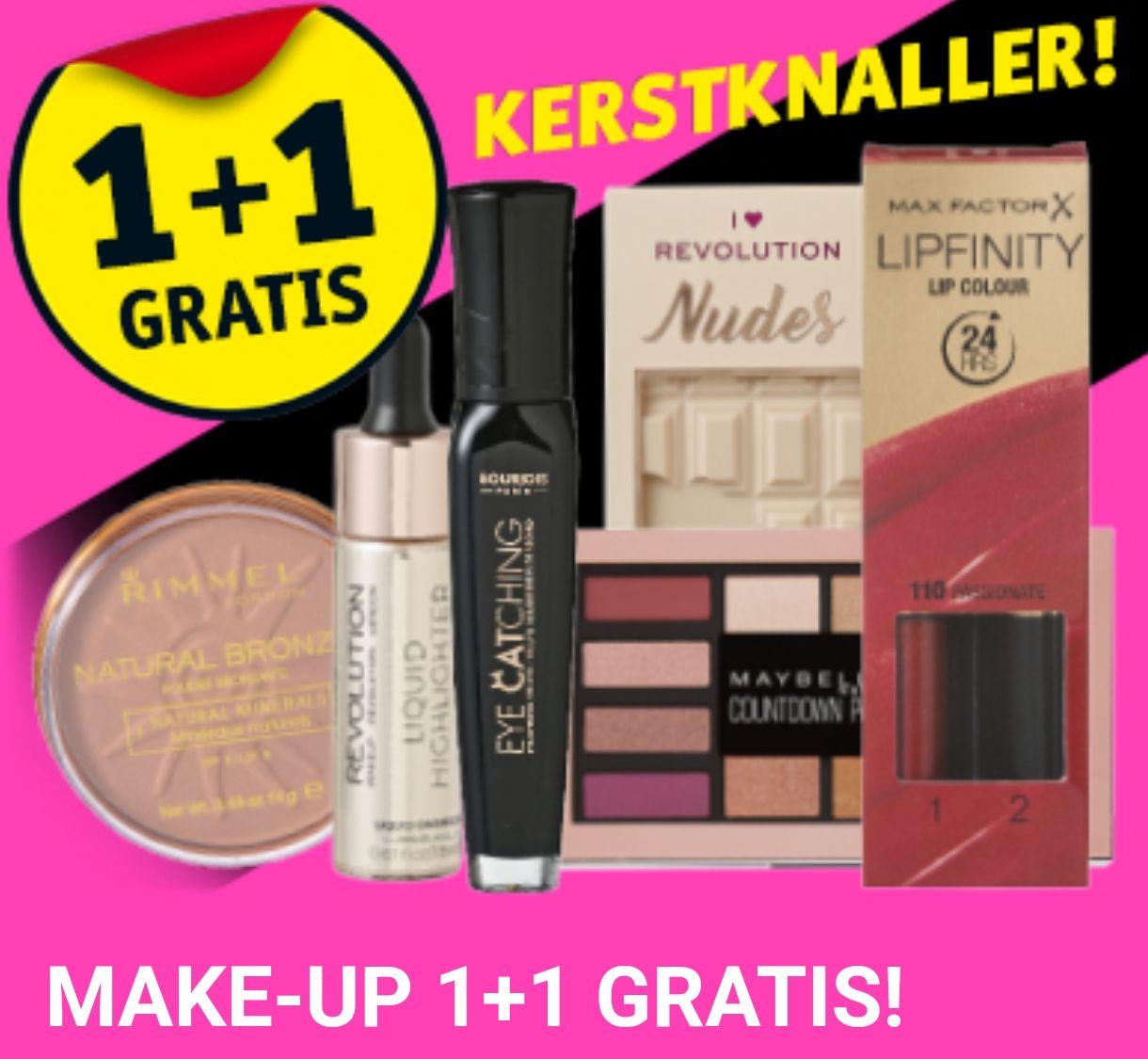 Make-up 1+1 gratis | + DAGACTIE @Kruidvat