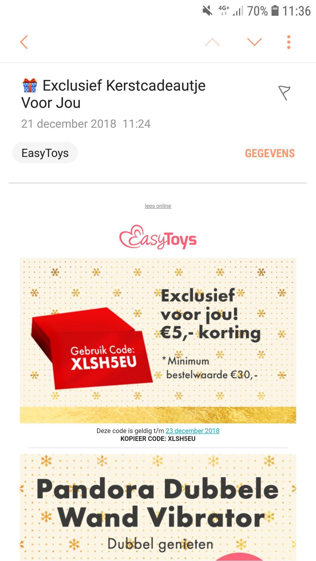 5 euro korting bij easy toys