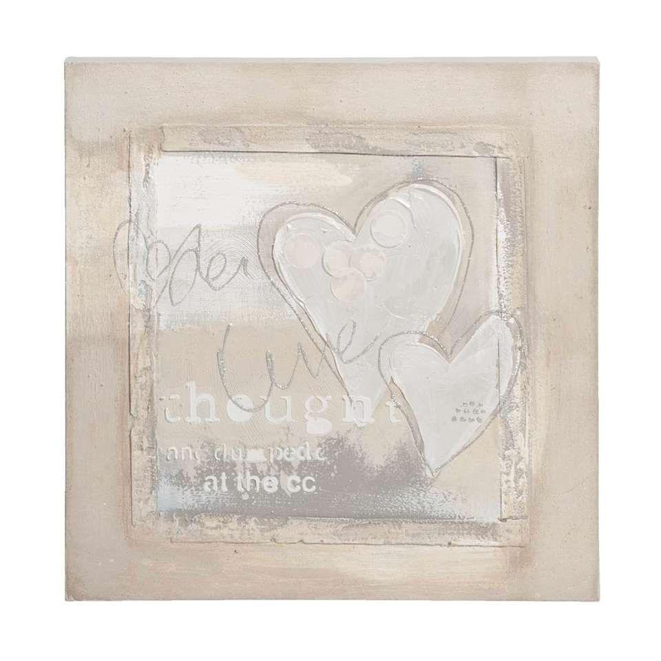 Schilderij/canvas Hart van 21.99 voor 6 euro