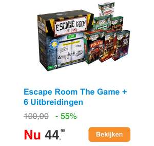 Escape Room The Game met 6 uitbreidingen
