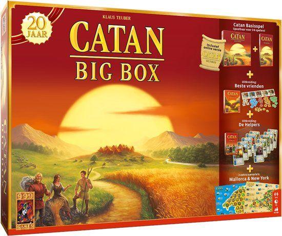 Kolonisten van Catan Big Box voor €39 bij Wehkamp