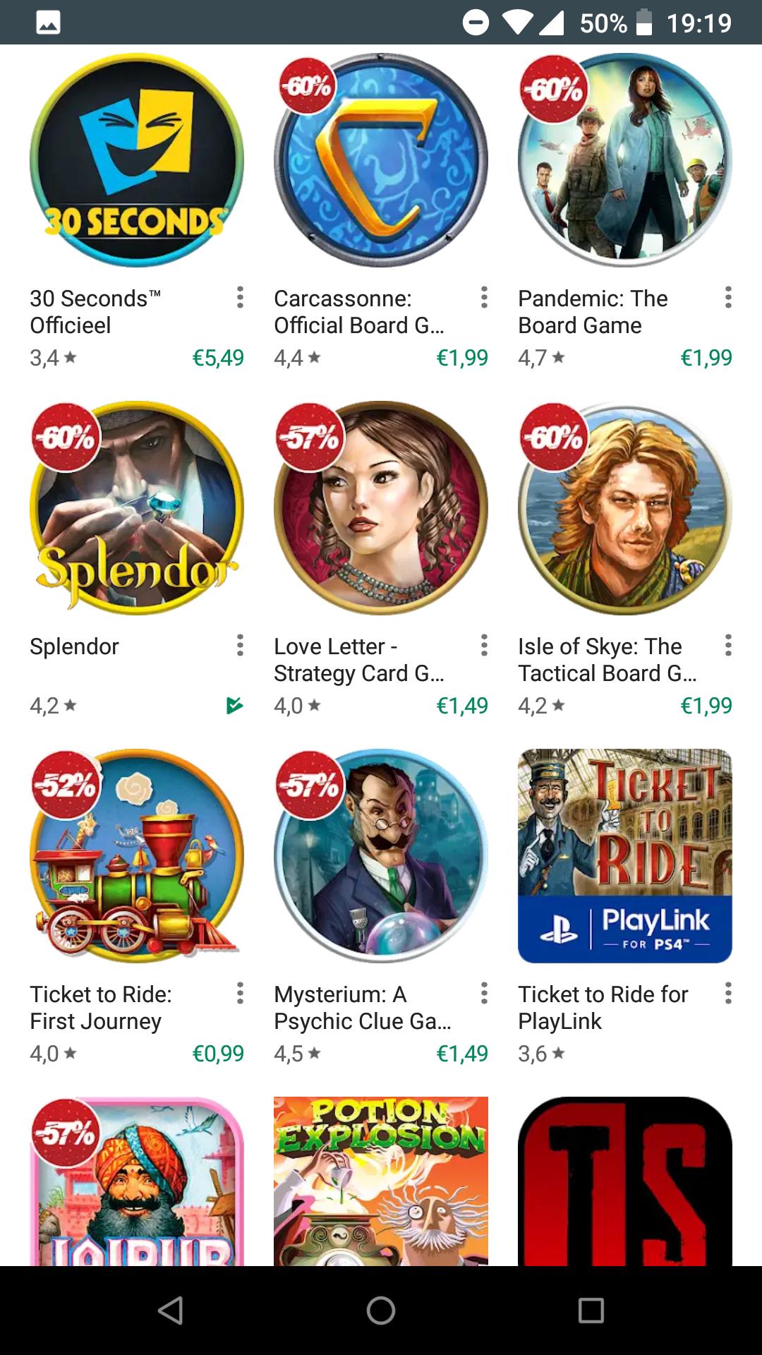 60% korting op populaire boardgame apps