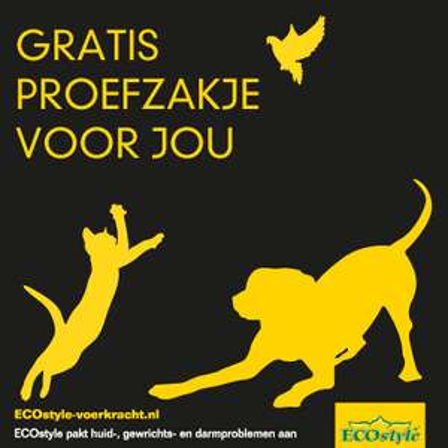 Gratis proefzakje ECOstyle honden- of kattenvoeding