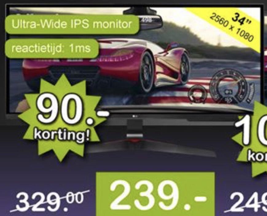 [Breda] LG 34UM69G-B ultrawide - 239,- euro - Enkel vandaag, enkel afhalen