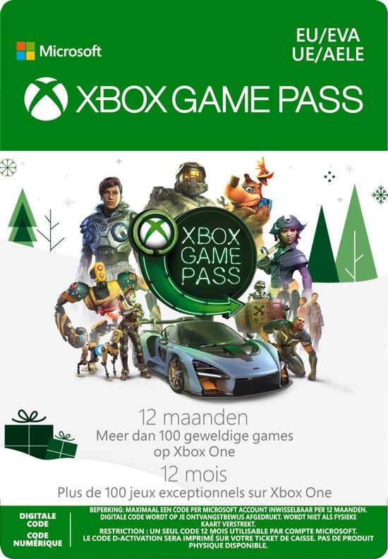 Xbox gamepass 12 maanden