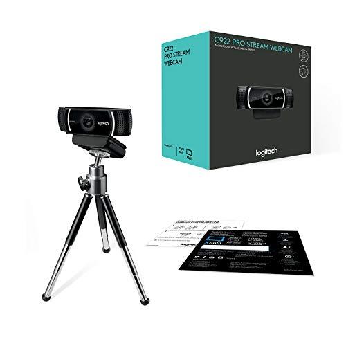 Logitech C922 Webcam Pro Stream (1080p / 30 fps of 720p / 60fps, met microfoon en statief), zwart