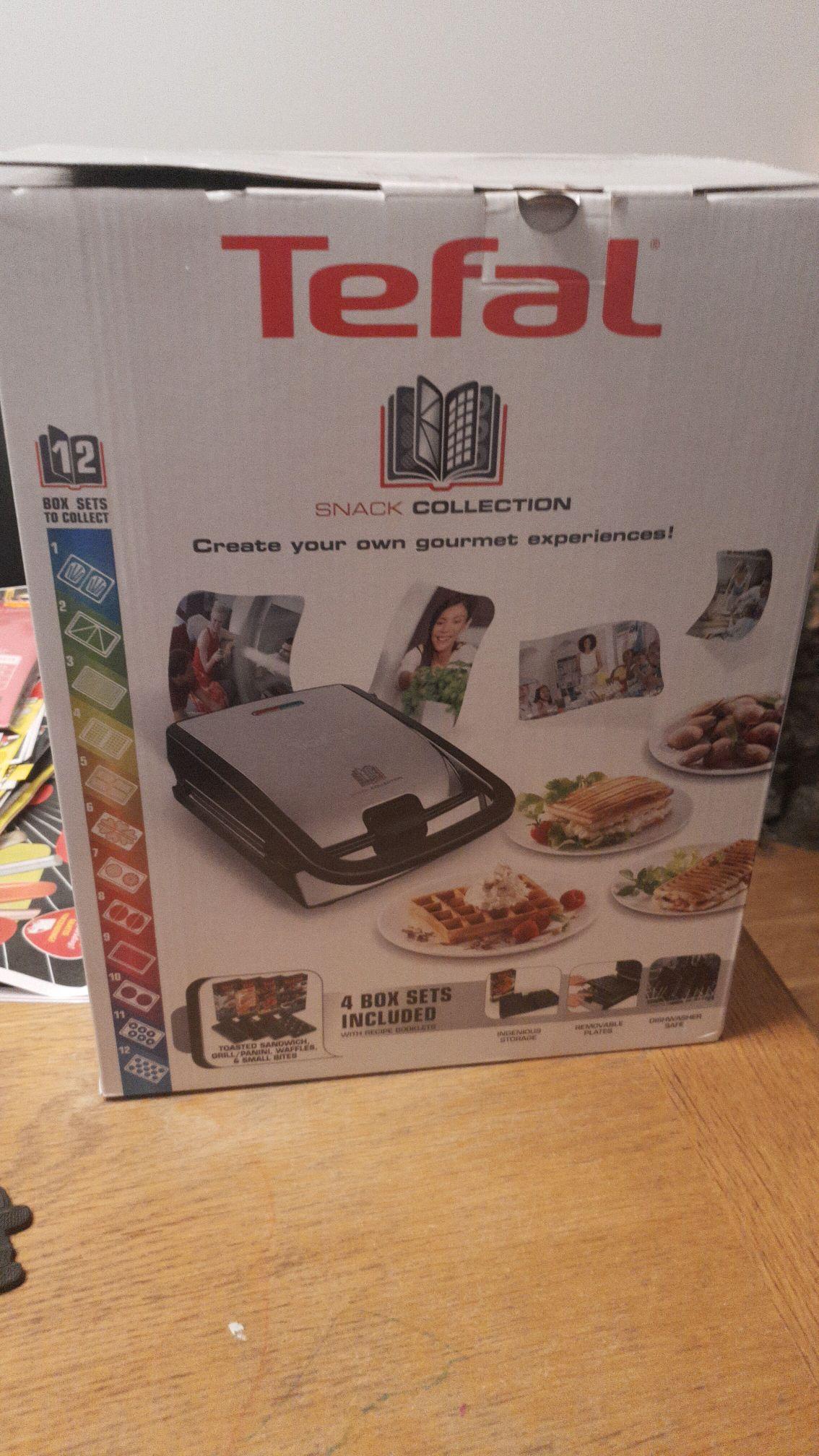 TEFAL Wafel/tosti/panini/poffertjes pan €65,00