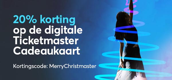 Ticketmaster E-Giftcard met 20% korting