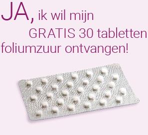 Gratis 30 tabletten foliumzuur  @ Foliumzuurb11