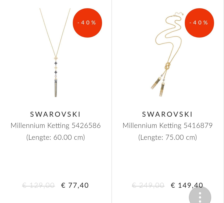 SWAROVSKI Sale: 40%/50% op diverse items @Brandfield