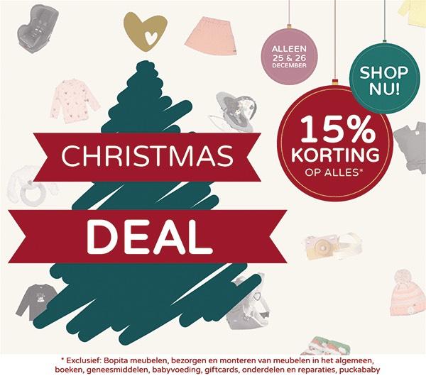 Christmasdeal: 15% korting op ALLES!