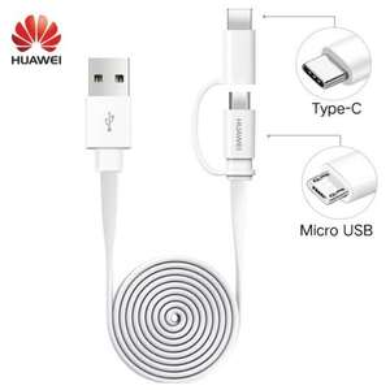 4x Huawei Honor 2-in-1-kabel (Type C/Micro USB) voor 2,62