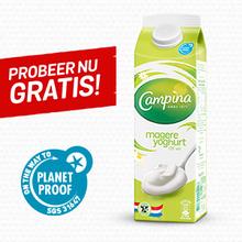 Eurosparen geld-terug-actie PlanetProof  Campina Magere Yoghurt 1L