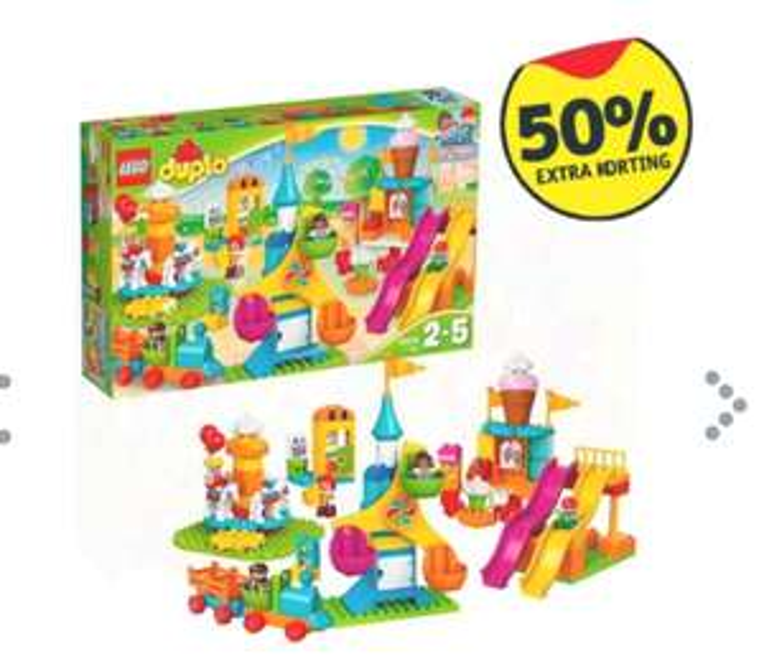 Kruidvat: heel veel met 50% extra korting (óók Lego en Playmobile!).