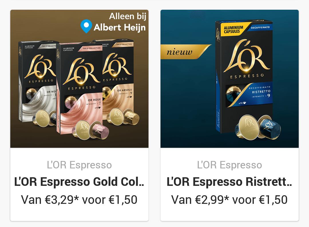 L'or capsules voor 1,50 via Scoupy