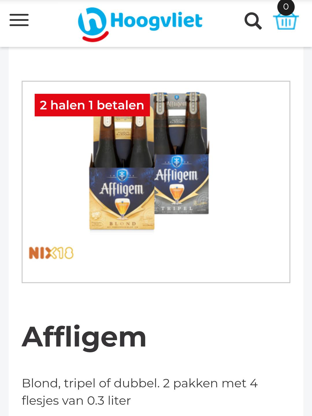 [Hoogvliet] Affligem bier 1+1 gratis