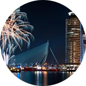 Gratis vuurwerkshow + gratis P+R parkeren + gratis met de metro @ O&N  Rotterdam