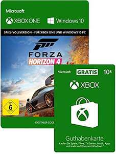Forza Horizon 4 (XB1/W10 Download Code) + €10 Xbox Giftcard voor €19,99 @ Amazon.de