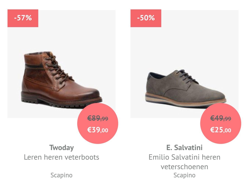 Diverse Herenschoenen -50%/-60% korting @Scapino
