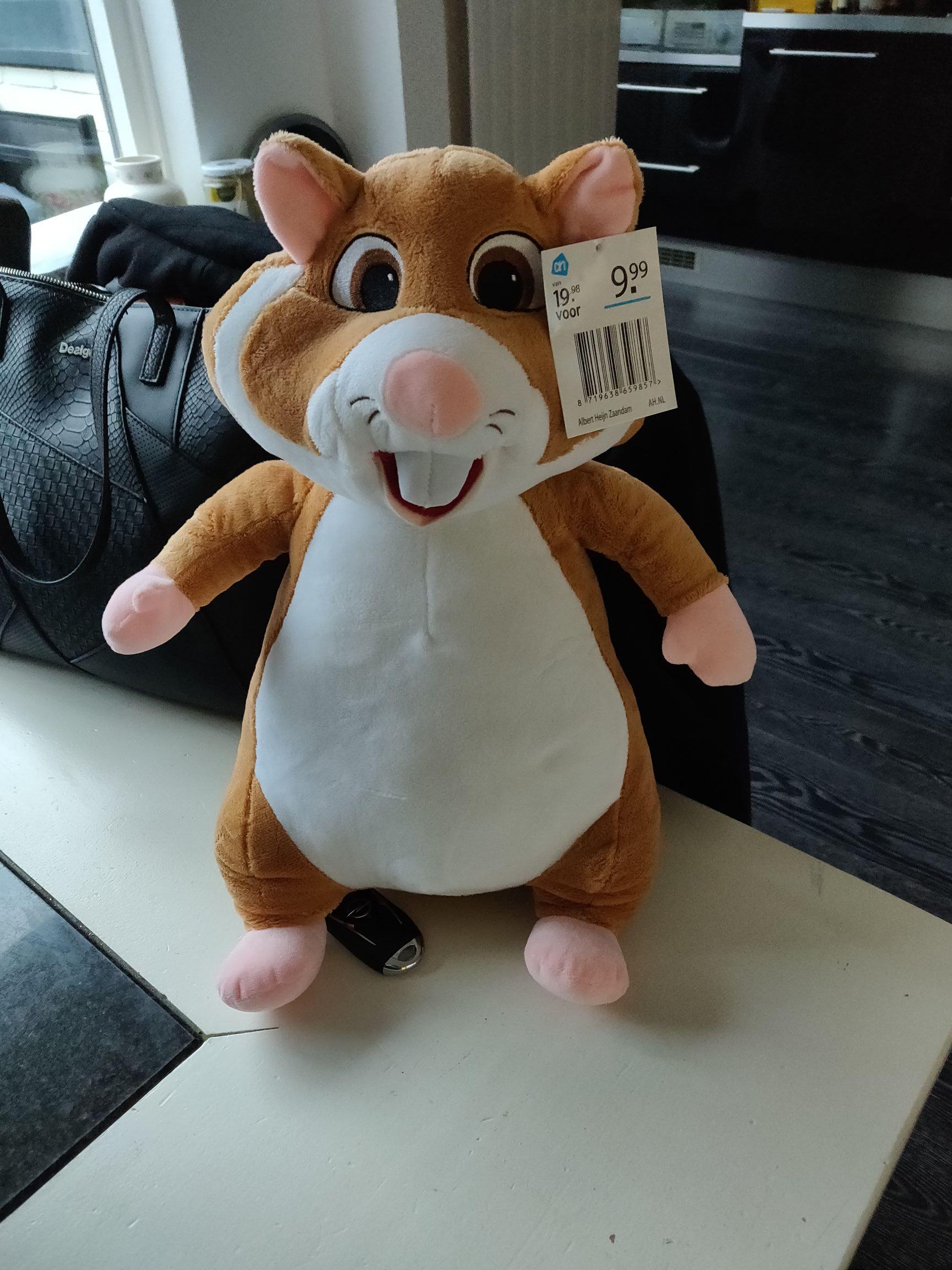 Hamsteren.... XL knuffelhamster voor weinig