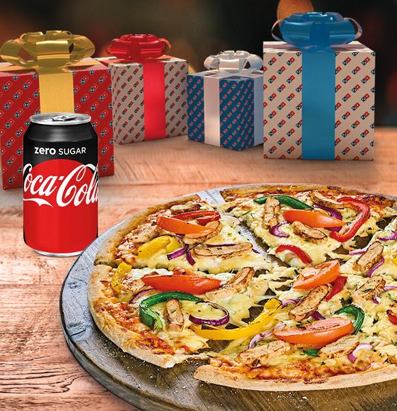 Alléén vandaag gratis drankje bij 1 pizza @ Domino's Deals App