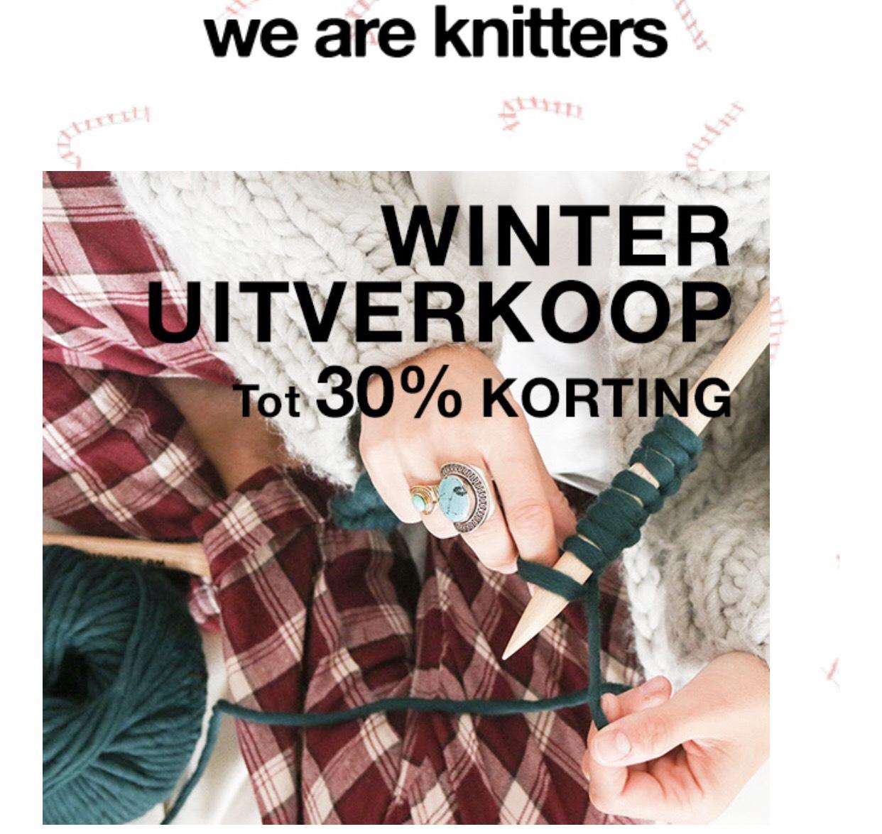 Tot 30% korting bij We Are Knitters op pakketten en losse materialen