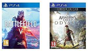 Battlefield V + Assassins Creed Odyssey - (PS4 & Xbox) @Amazon.co.uk