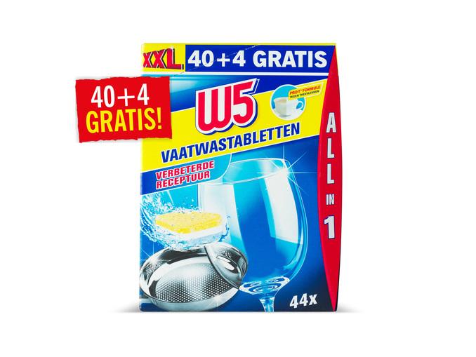 Vanaf maandag W5 vaatwastabletten 44 stuks - €2,99 @ Lidl
