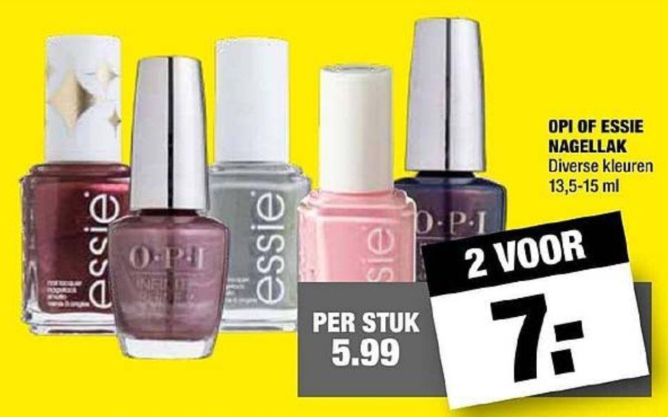 OPI of Essie Nagellak - 2 voor €7 @BigBazar
