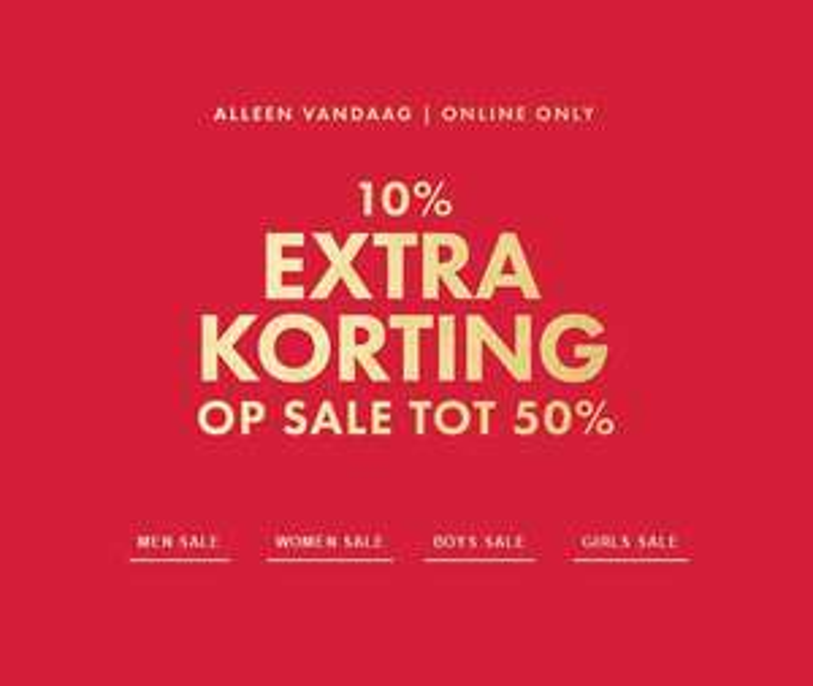 Actie: vandaag 10% EXTRA korting alle sale @ We Fashion