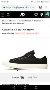 Converse All Star Ox zwart maat 40