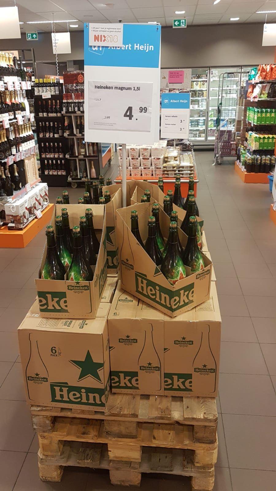 Heineken magnum fles 1.5 liter nu voor maar €4.99