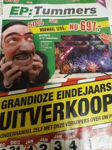 "Sony 4K Led TV 65"" Van €999,-(elders) Nu naar €649"