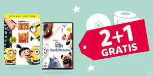 2+1 GRATIS op alle DVD's en CD's @ Intertoys