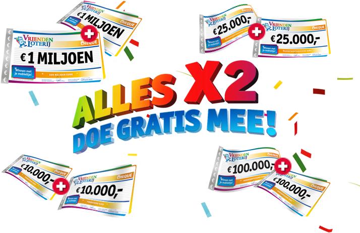 Vriendenloterij: gratis eerste maand meespelen en 20 euro!