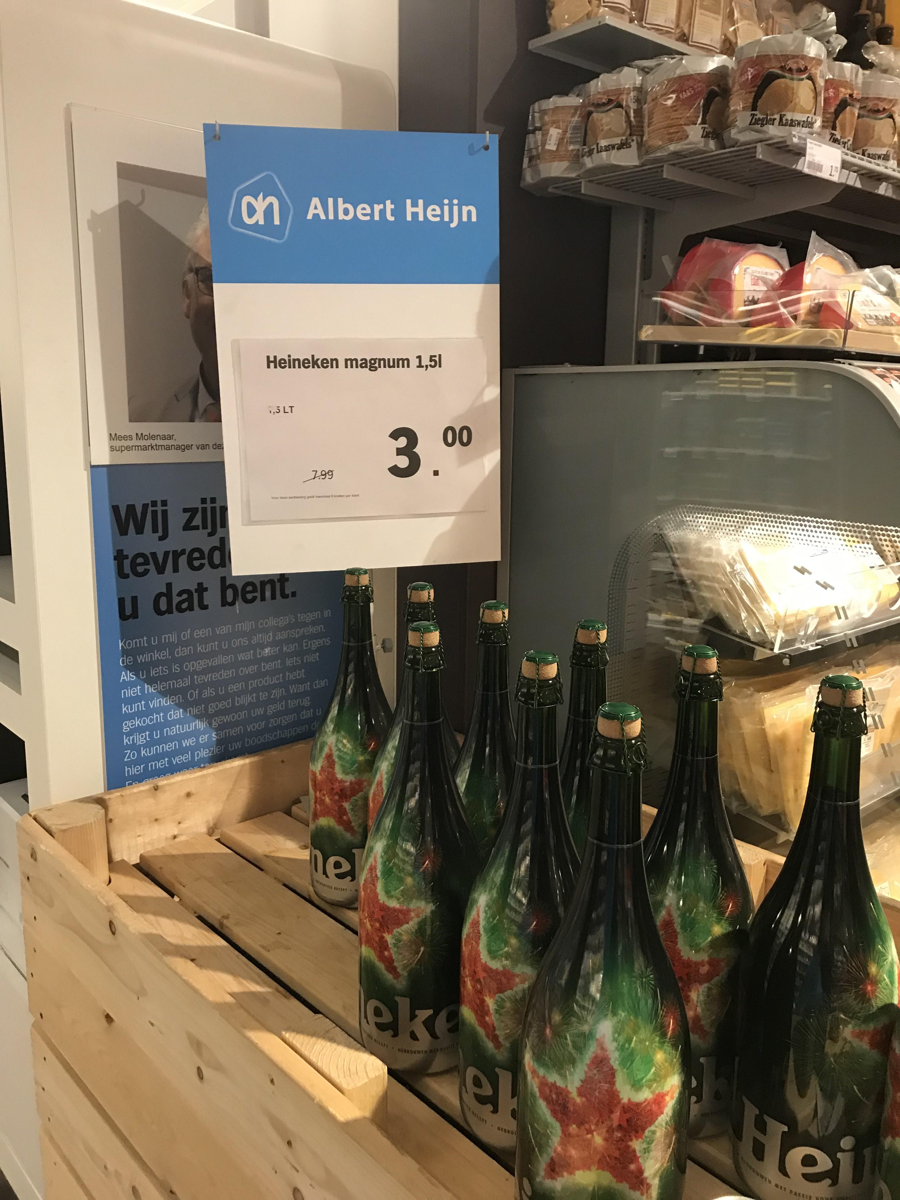 Plaatselijke aanbieding (AH Heigalerij Hilversum) heineken fles 1,5L
