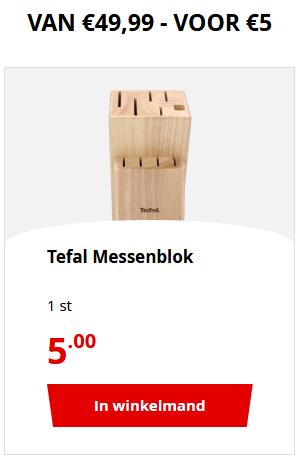 Tefal Heritage Messenblok van 49.95 voor 5 euro