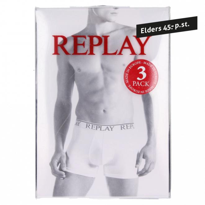 Replay Boxershorts Wit Maat XL 3 st van 45 voor 15 euro